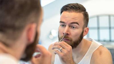 Tijeras cortar pelos nariz